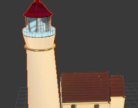 phare blanc